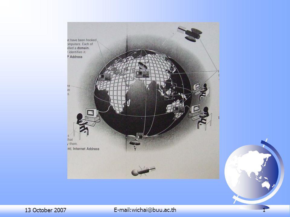 13 October 2007E-mail:wichai@buu.ac.th 1