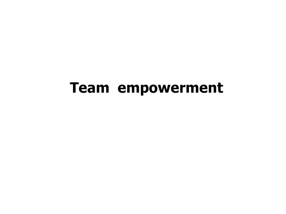 Team empowerment