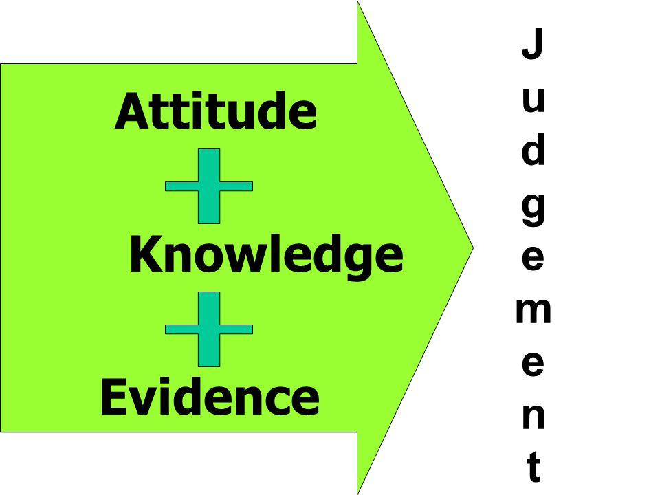 Evidence Knowledge Attitude JudgementJudgement