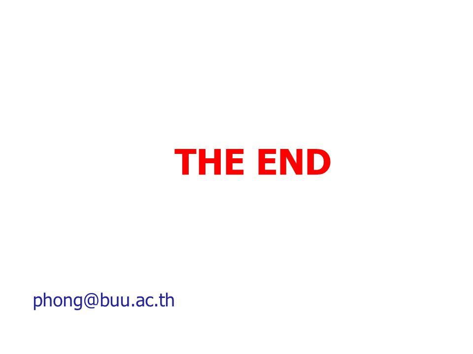 THE END phong@buu.ac.th