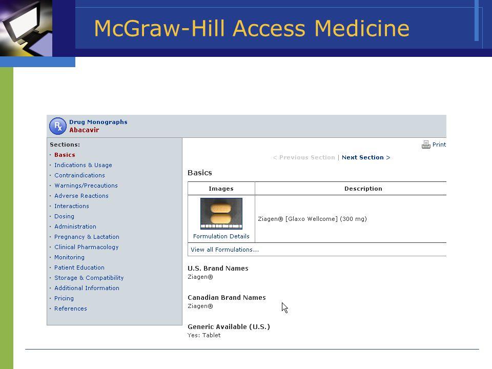 McGraw-Hill Access Medicine