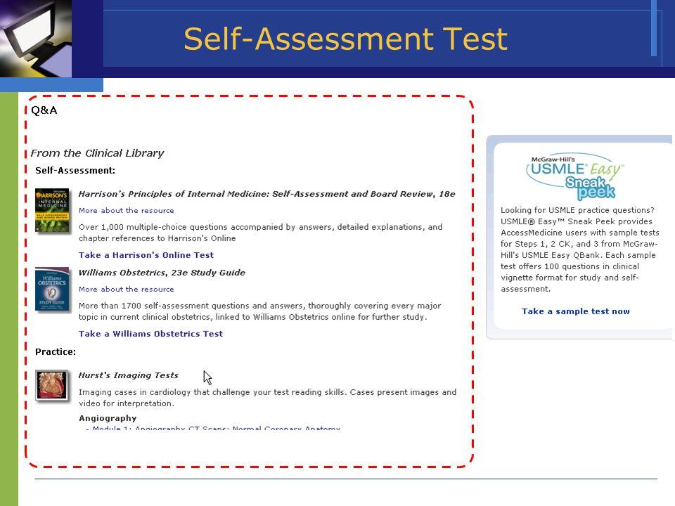 Self-Assessment Test