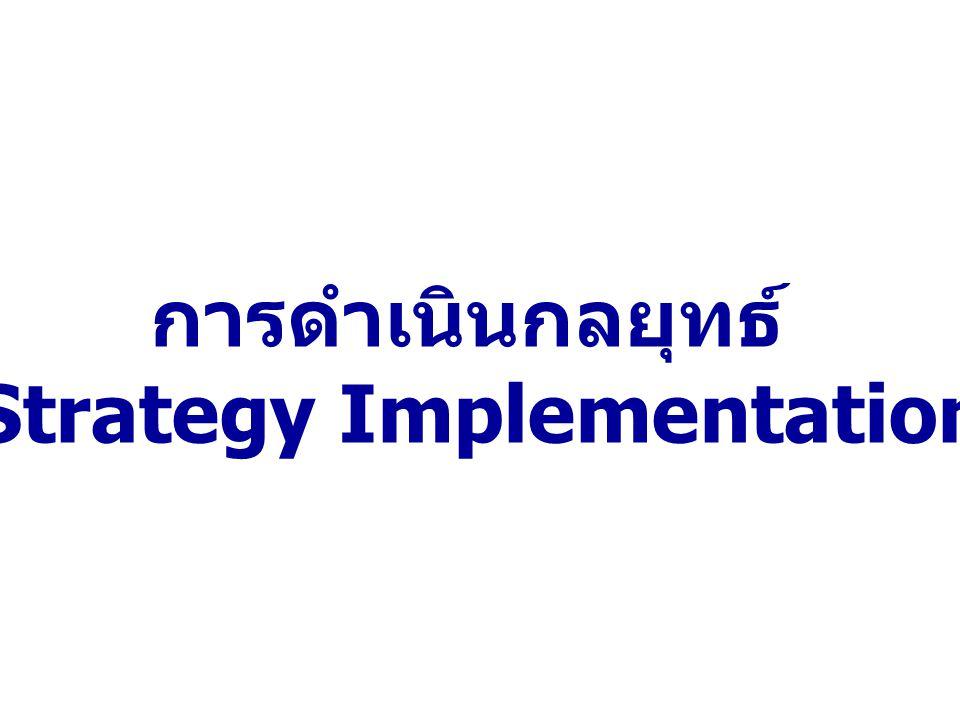 การดำเนินกลยุทธ์ (Strategy Implementation)