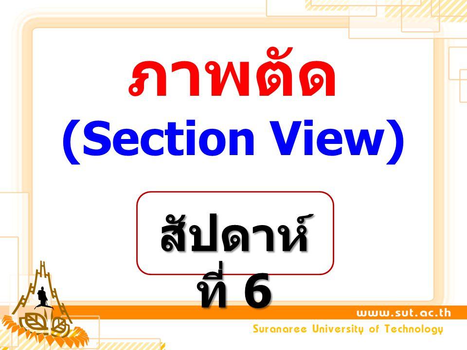 6.REVOLVED SECTION 7.REMOVED SECTION * CONVENTIONAL BREAKS ประเภทของภาพตัด