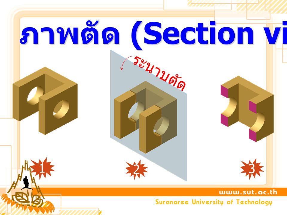 ภาพตัด (Section view) ระนาบตัด