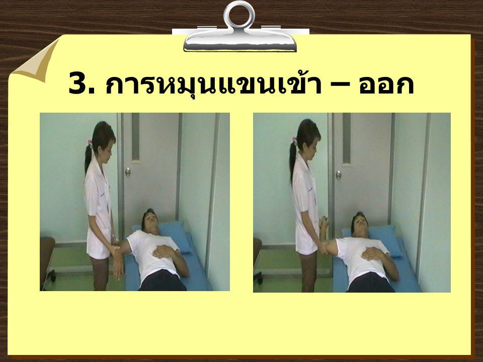 3. การหมุนแขนเข้า – ออก