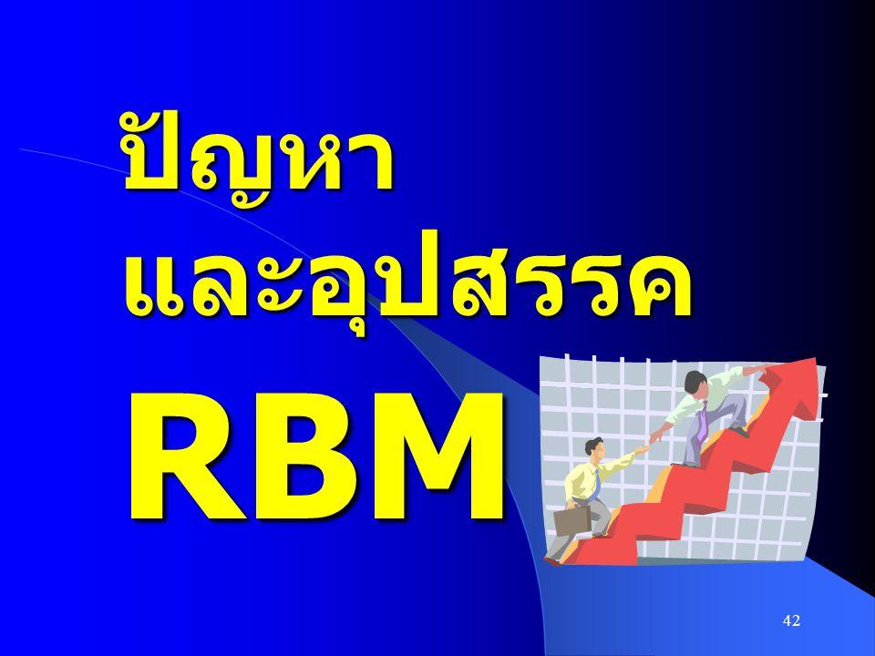42 ปัญหา และอุปสรรค RBM