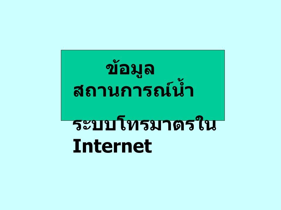 ข้อมูล สถานการณ์น้ำ ระบบโทรมาตรใน Internet