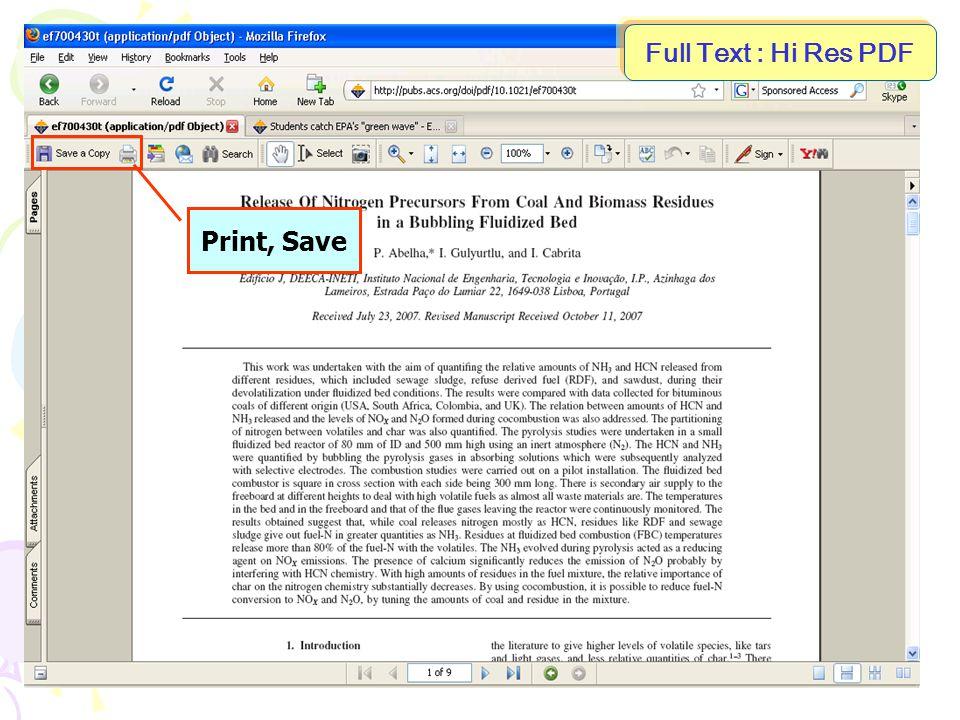 Full Text : Hi Res PDF Print, Save