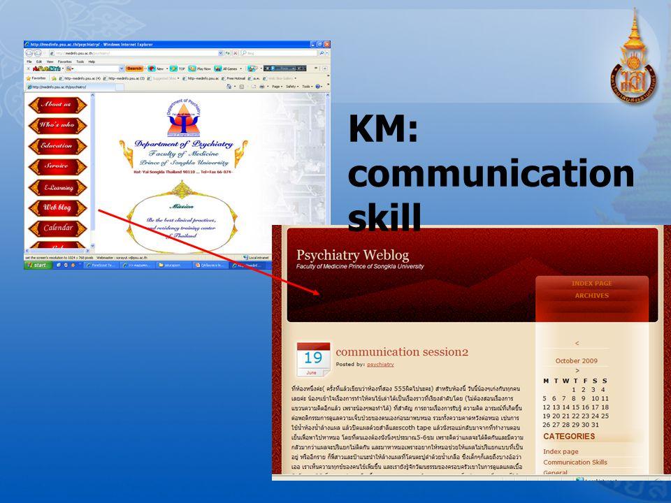 KM: communication skill