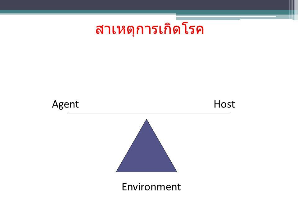 สาเหตุการเกิดโรค Environment AgentHost