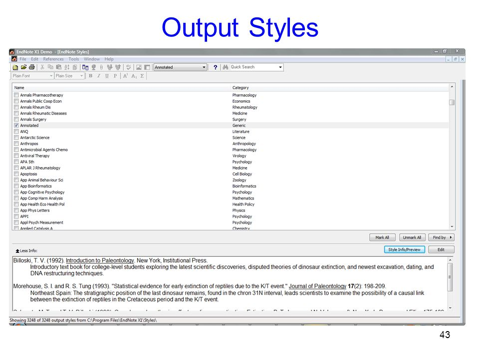43 Output Styles