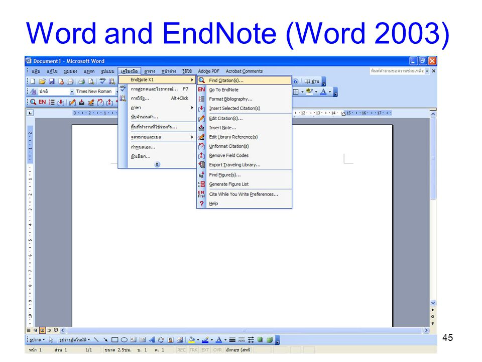 46 Word and EndNote (Word 2007)