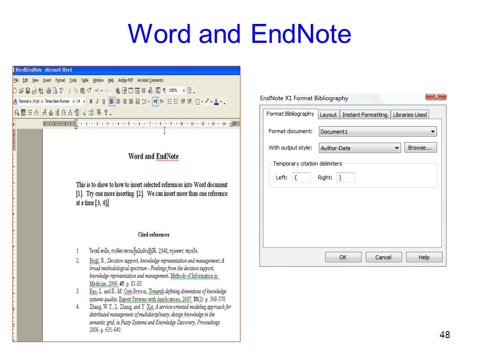 48 Word and EndNote