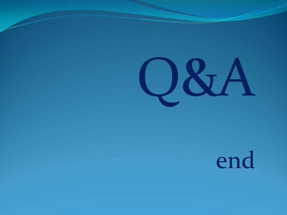 Q&A end