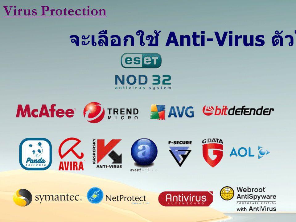Virus Protection จะเลือกใช้ Anti-Virus ตัวไหนดี