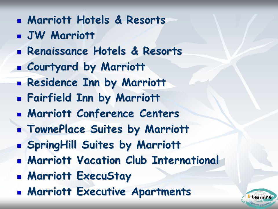 Marriott Hotels & Resorts Marriott Hotels & Resorts JW Marriott JW Marriott Renaissance Hotels & Resorts Renaissance Hotels & Resorts Courtyard by Mar