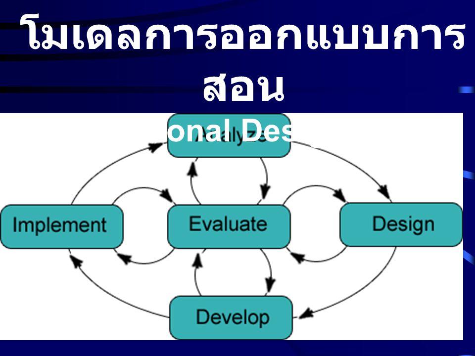 โมเดลการออกแบบการ สอน (Instructional Design Model)