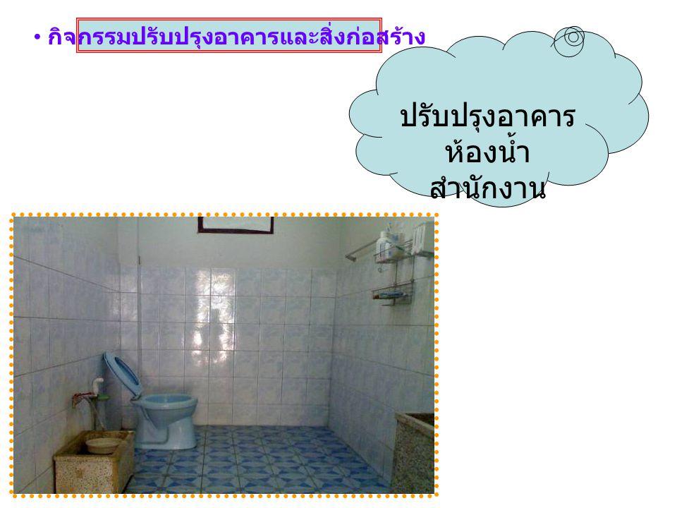 กิจกรรมปรับปรุงอาคารและสิ่งก่อสร้าง ปรับปรุงอาคาร ห้องน้ำ สำนักงาน