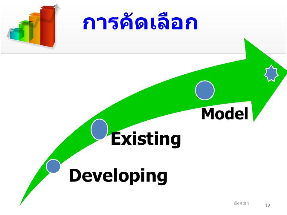 การคัดเลือก 19 อังคณา Developing Existing Model