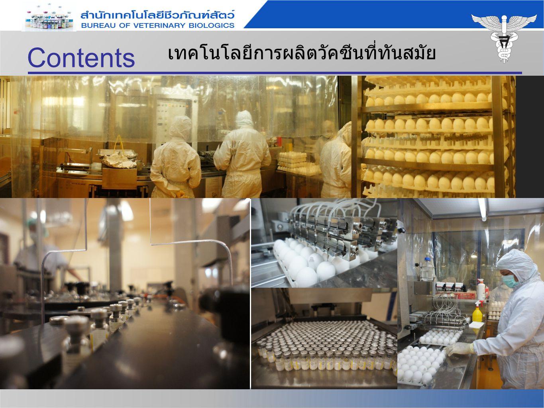 Contents เทคโนโลยีการผลิตวัคซีนที่ทันสมัย