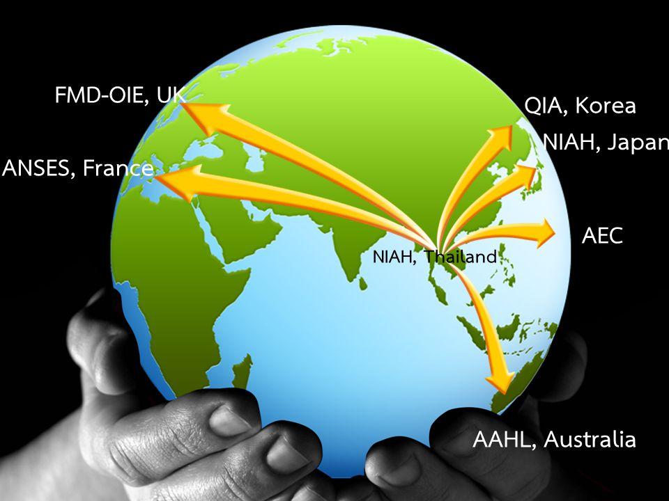 29 AEC AAHL, Australia NIAH, Japan QIA, Korea FMD-OIE, UK ANSES, France NIAH, Thailand