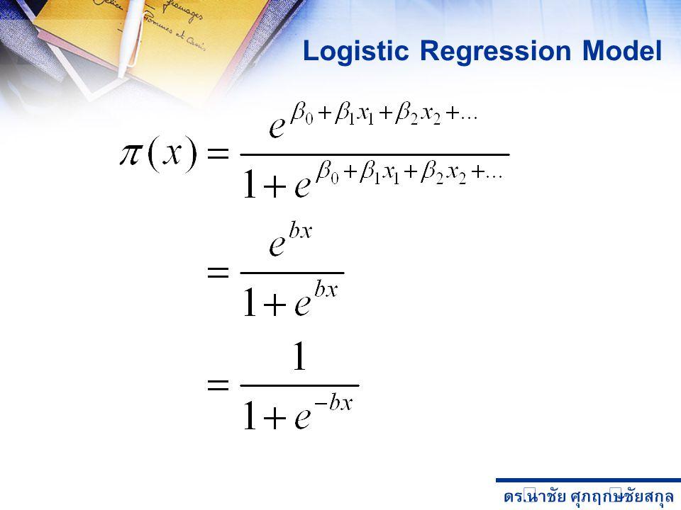 ดร. นำชัย ศุภฤกษ์ชัยสกุล Logistic Regression Model