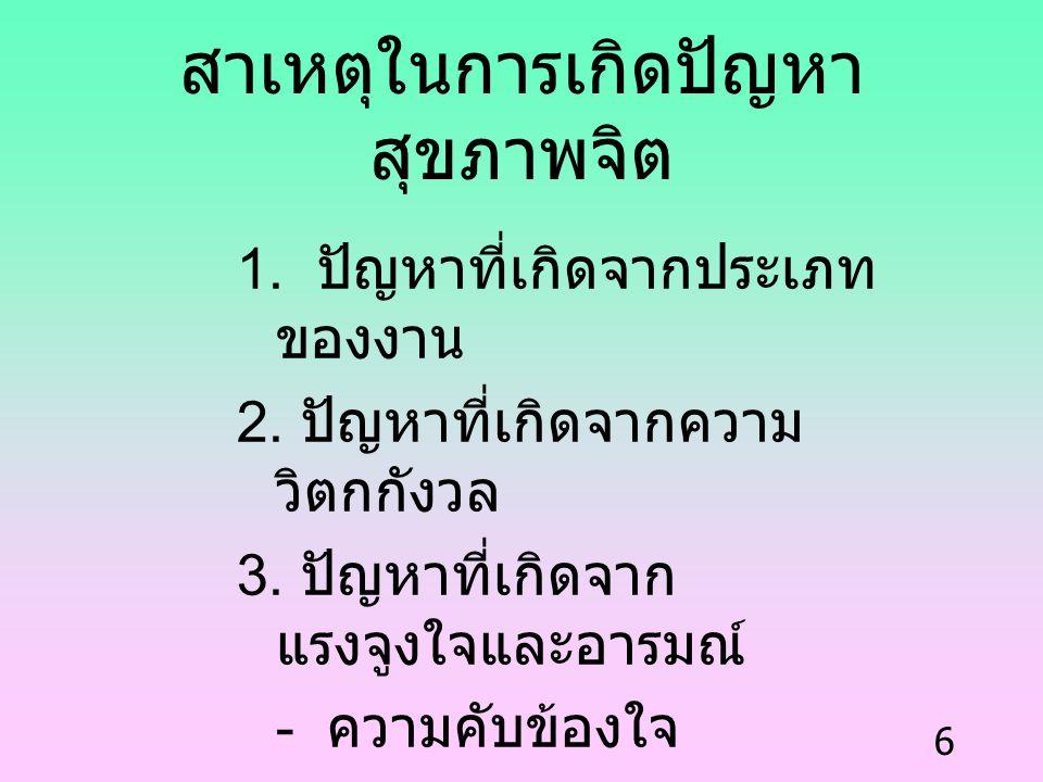 7 วิธีช่วยลดปัญหาทางสุขภาพจิต ( ของผู้มีปัญหา ) 1.