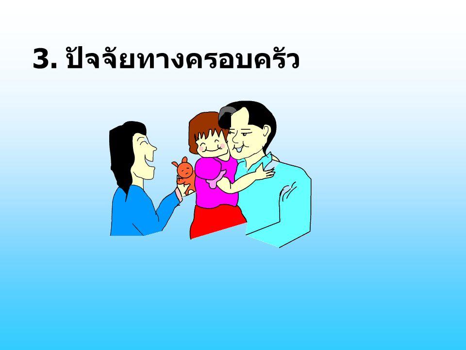 3. ปัจจัยทางครอบครัว