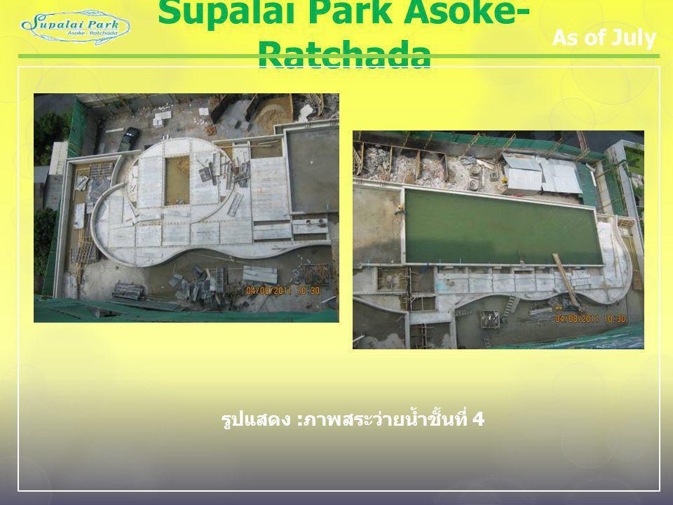 Supalai Park Asoke- Ratchada As of July รูปแสดง : ภาพสระว่ายน้ำชั้นที่ 4