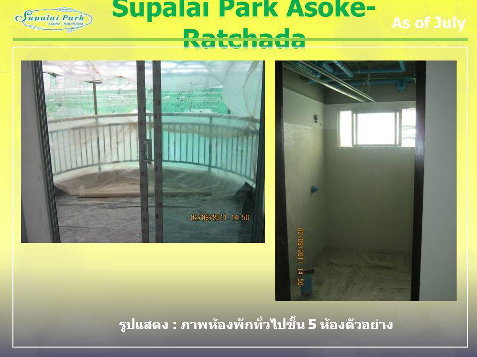 Supalai Park Asoke- Ratchada As of July รูปแสดง : ภาพห้องพักทั่วไปชั้น 5 ห้องตัวอย่าง