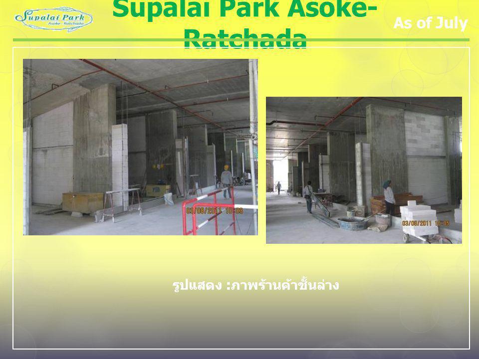 Supalai Park Asoke- Ratchada As of July รูปแสดง : ภาพร้านค้าชั้นล่าง