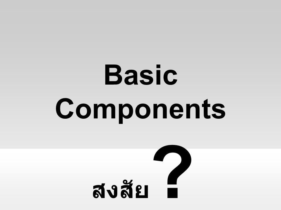 สงสัย ? Basic Components