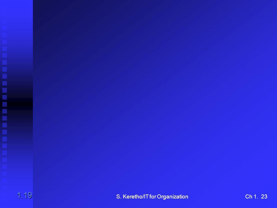 S. Keretho/IT for OrganizationCh 1. 23 1.19