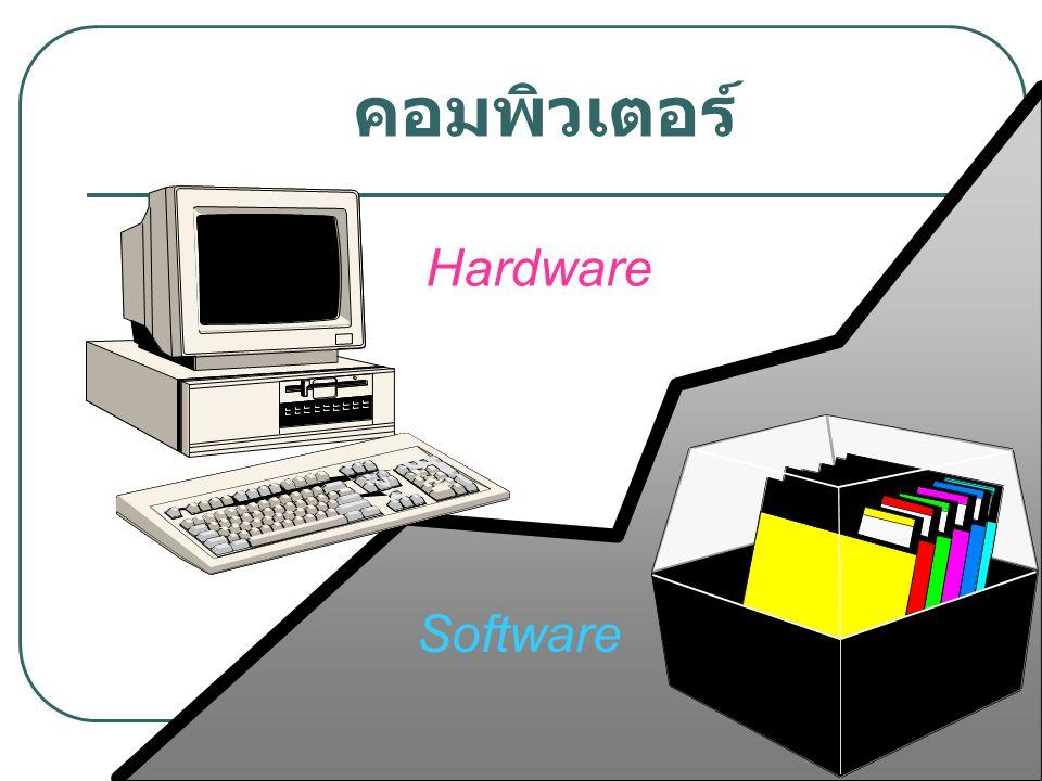 ความสัมพันธ์ของ Hardware และ Software USE R เครื่องคอมพิวเตอร์ ซอฟต์แวร์ระบบ System Library ซอฟต์แวร์ ประยุกต์ System Library ซอฟต์แวร์ ประยุกต์