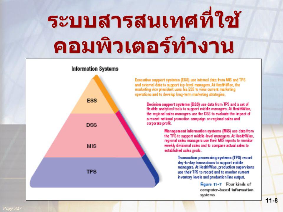 11-8 ระบบสารสนเทศที่ใช้ คอมพิวเตอร์ทำงาน Page 327