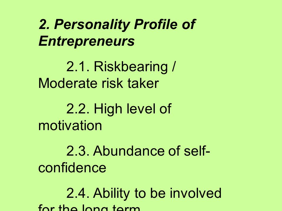 1.2. Characteristics of Entrepreneurs 1. Demographic Profile of Entrepreneurs 1.1.