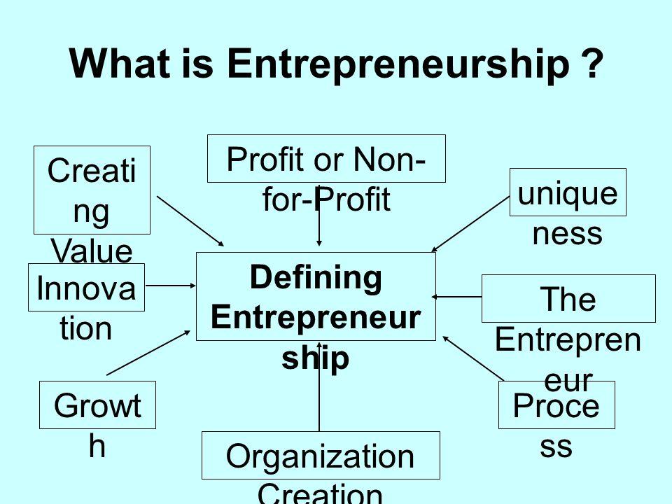 What is Entrepreneurship .