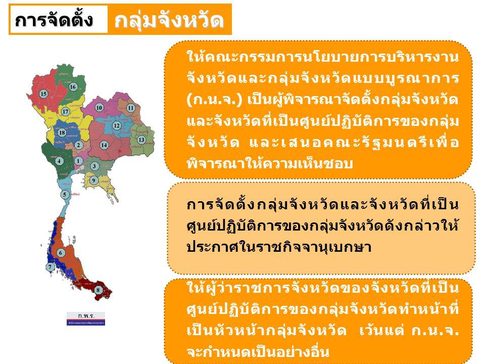 40 การปรับปรุงการจัดกลุ่มจังหวัด กลุ่มจังหวัด 18 กลุ่ม ตามมติคณะรัฐมนตรี เมื่อวันที่ 15 มกราคม 2551 กลุ่มจังหวัด 18 กลุ่ม ตามมติคณะรัฐมนตรี เมื่อวันที่ 15 มกราคม 2551 กลุ่มจังหวัด 19 กลุ่ม ตามมติคณะรัฐมนตรี เมื่อวันที่ 17 พฤศจิกายน 2546 กลุ่มจังหวัด 19 กลุ่ม ตามมติคณะรัฐมนตรี เมื่อวันที่ 17 พฤศจิกายน 2546