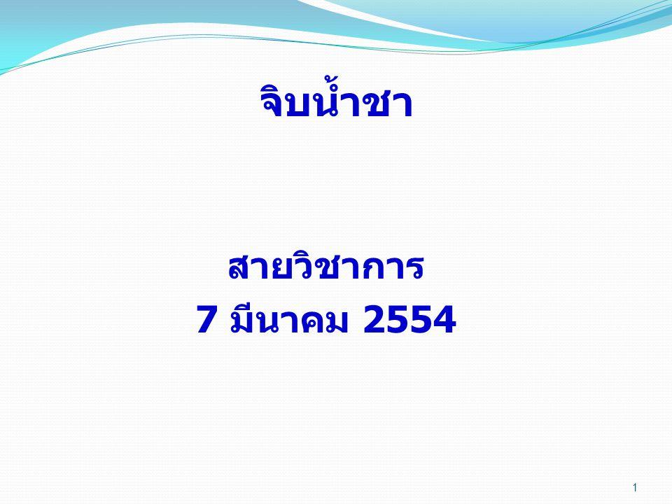 1 จิบน้ำชา สายวิชาการ 7 มีนาคม 2554