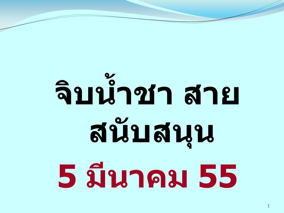 1 จิบน้ำชา สาย สนับสนุน 5 มีนาคม 55