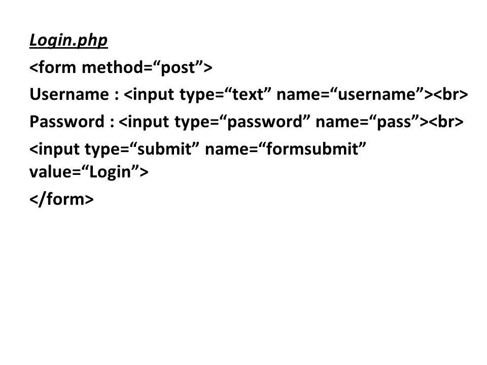 Login.php Username : Password :