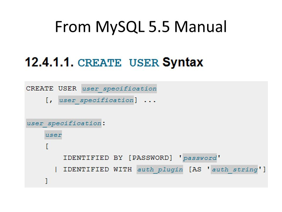 From MySQL 5.5 Manual