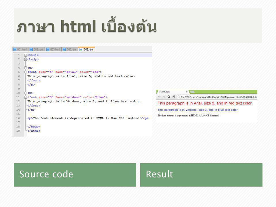 Source codeResult