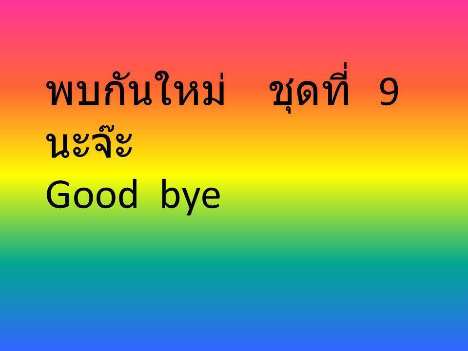 พบกันใหม่ ชุดที่ 9 นะจ๊ะ Good bye