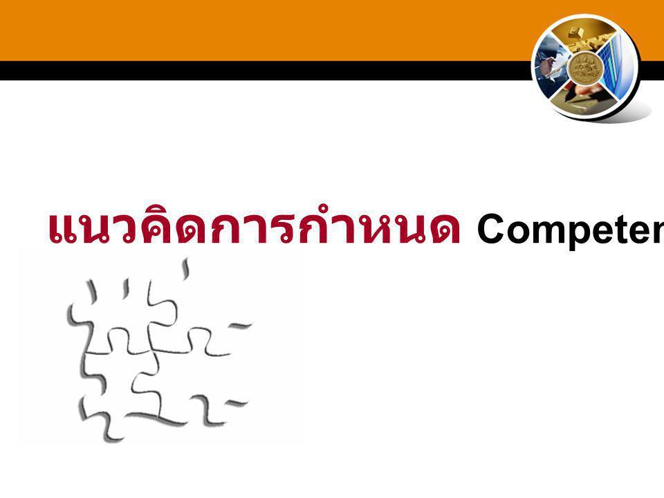 แนวคิดการกำหนด Competency ?
