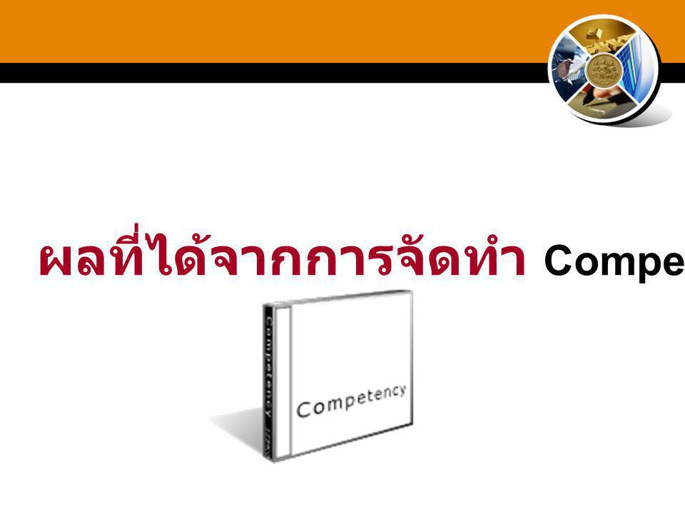 ผลที่ได้จากการจัดทำ Competency?