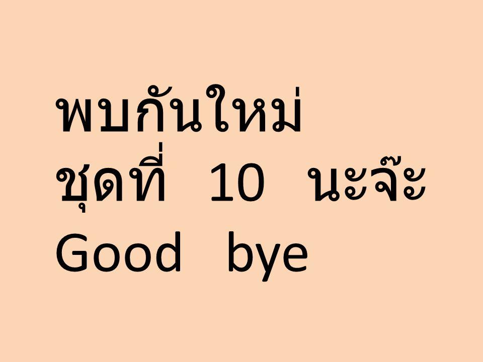 พบกันใหม่ ชุดที่ 10 นะจ๊ะ Good bye