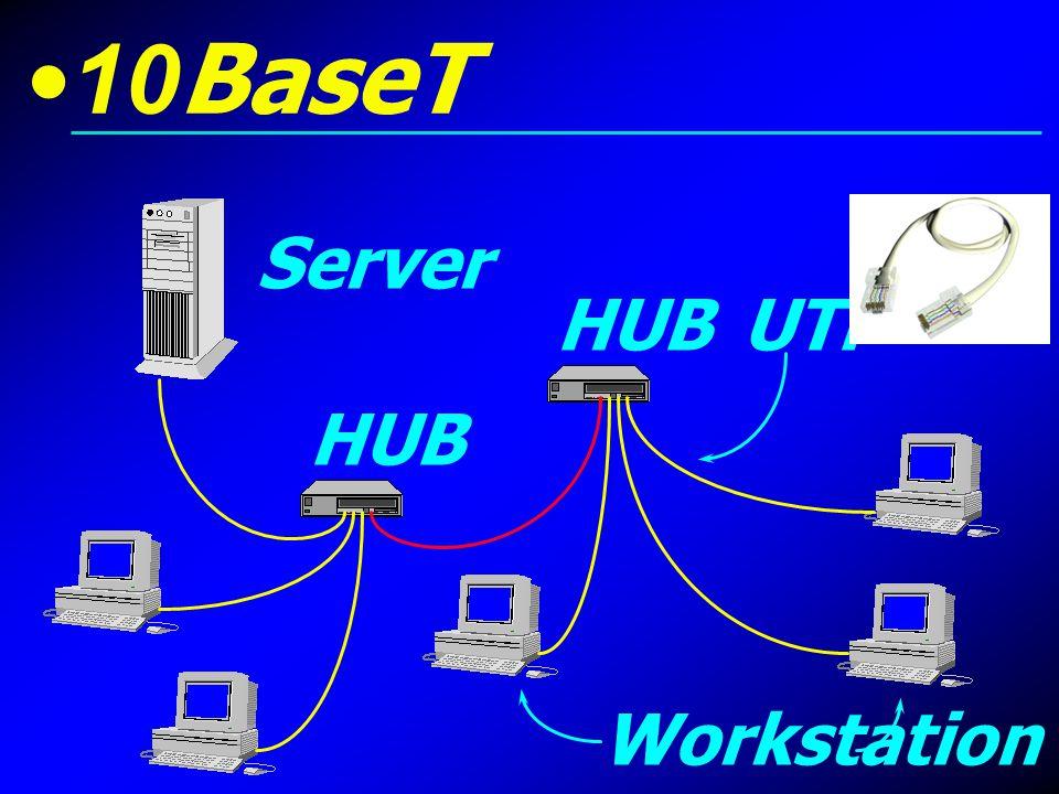 10BaseT Server Workstation HUB UTP