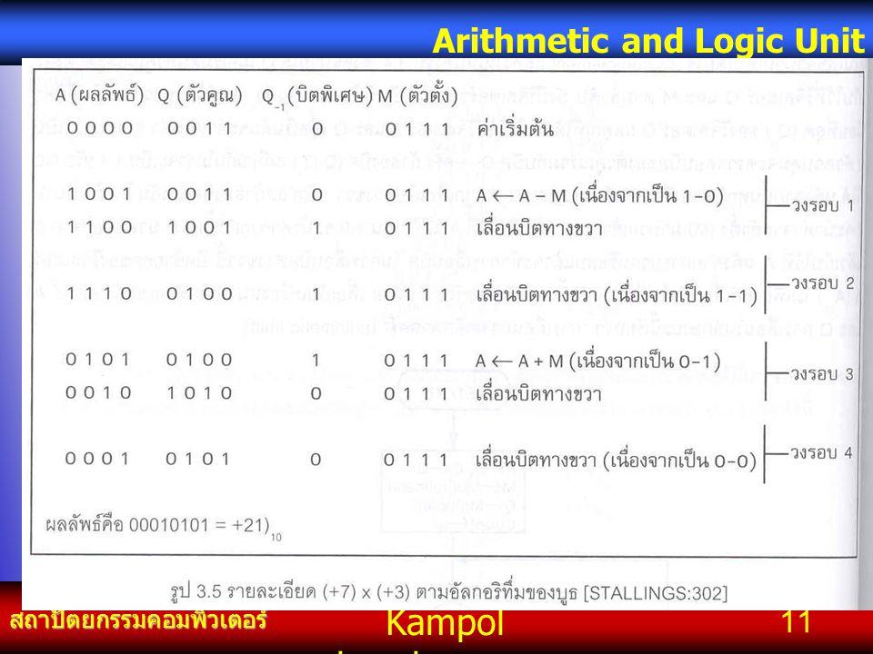 Kampol chanchoengpan it สถาปัตยกรรมคอมพิวเตอร์ Arithmetic and Logic Unit 11